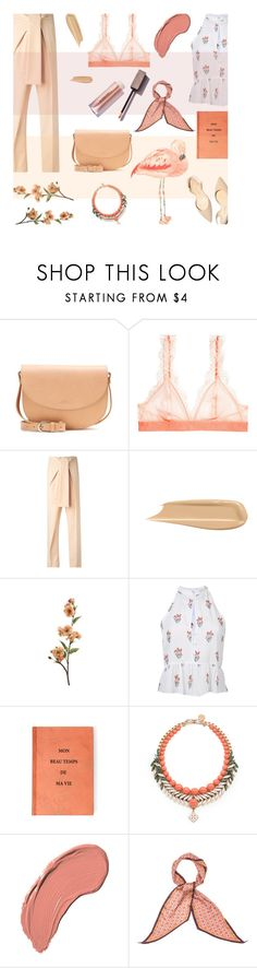 """""""PEACHY DAYS"""" by alongcametwiggy ❤ liked on Polyvore featuring A.P.C., H&M, Chloé, Paul Andrew, A.L.C., Ellen Conde, NYX and Monsoon"""