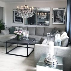 on insta web viewer * posts, videos & stories Living Room Grey, Home Living Room, Apartment Living, Living Room Designs, Living Room Decor, Living Spaces, Apartment Therapy, Living Room Inspiration, Interior Inspiration