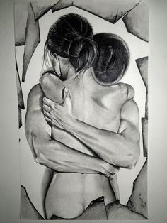 "Saatchi Online Artist: Surajit Chatterjee; Charcoal 2012 Drawing ""Love"":"