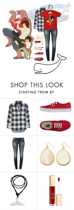 """""""Bakemono No Ko (The Boy and the Beast)"""" by hbw1996 ❤ liked on Polyvore featuring Madewell, Vans, Mavi, White House Black Market, NOVICA, Milani and AERIN"""