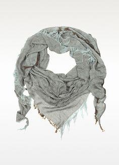 Fendi Triangle Viscose/Cotton Zucca Scarf