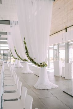 A classic gold and white wedding at Cavalli Estate, Stellenbosch – epanouir fl. A classic gold and white wedding at Cavalli Estate, Stellenbosch – epanouir flower studio - draping tie backs and garlan. Wedding Draping, Wedding Stage, Diy Wedding, Wedding Ideas, All White Wedding, White Wedding Flowers, Wedding Reception Decorations, Wedding Venues, White Wedding Receptions