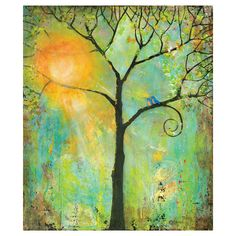 Tree and Bird Hello Sunshine by Blenda Tyvoll Wall Decal