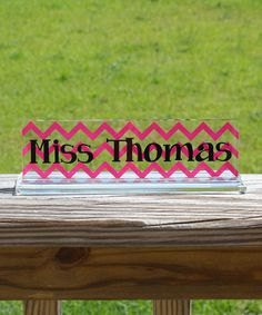 Another great find on #zulily! Hot Pink Desk Name Plate #zulilyfinds