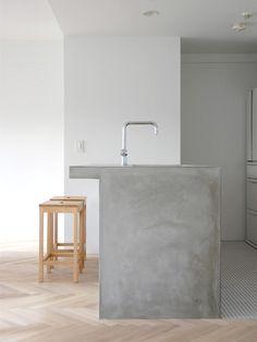 Industrial - concrete & wood kitchen