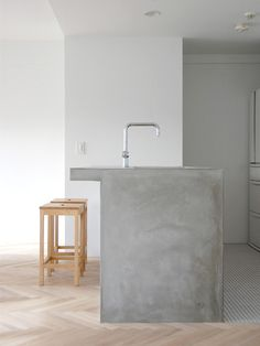 concrete & wood kitchen