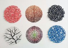 Embroidery art often seeks to mimic nature, but Australian visual artist Meredith Woolnough has a special technique we've never seen before. By using water-soluble fabric, her beautiful embroidery, which is inspired by nature's most graceful forms, gains Embroidery Art, Cross Stitch Embroidery, Embroidery Patterns, Machine Embroidery, Tela Soluble En Agua, Textiles, Water Soluble Fabric, Diy Broderie, Embroidered Leaves