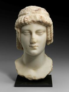 Marble head of a queen in the guise of Isis. Ancient Greece, Ancient Egypt, Ptolemaic Dynasty, Boston Museums, Hellenistic Period, Ancient Buildings, Historical Artifacts, Minoan, Queen
