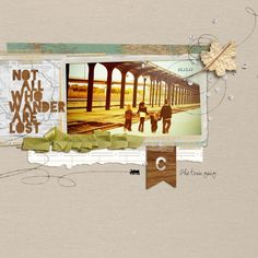 Scrapbook Page Starters: Arrange Photos and Elements on a Shelf   Amy Kingsford   Get It Scrapped