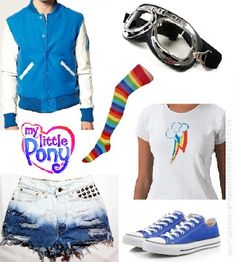 Rainbow Dash (My Little Pony) inspired outfit <3