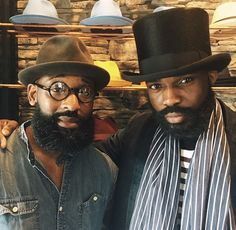 The eclectic lifestyle specialist Mr. Hicks and Marc Williamson of Flame Keepers Hat Club.