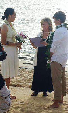 Congratulations To Carrie And Laurie On Their July Wedding From Rev Grace All Of Us At I Do Hawaiian Weddings