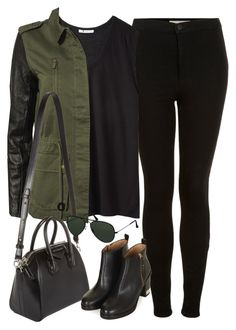 """""""Untitled#2382"""" by fashionnfacts ❤ liked on Polyvore featuring Topshop, T By Alexander Wang, Modström, Givenchy and Ray-Ban"""