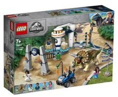LEGO Jurassic World Triceratopschaos - 75937 - Brick King Jurassic World T Rex, Pop Culture Store, Free Lego, Dinosaur Gifts, Lego Architecture, Lego Friends, Lego City, Building Toys, 4th Birthday