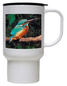 Kingfisher Polymer Plastic Travel Mug