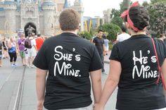 Disney World, Couples Shirts, Love, He's Mine She's Mine