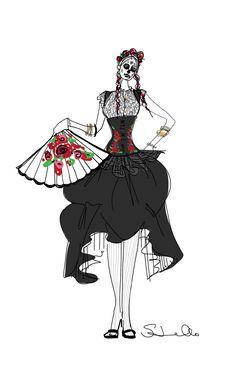 #costumedesign #elmuseo #diadelosmuertos #susanjaramillo #costume #fashion #illustration #mexican #steampunk #costumeideas