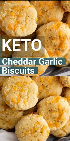 Keto Cheddar Garlic Biscuits - Keto Recipes - Ideas of Keto Recipes - You will love these easy Keto Cheddar Garlic Biscuits they are a perfect Low Carb Red Lobster Biscuit Copycat! Only 2 net carbs each and loaded with flavor! Ketogenic Recipes, Diet Recipes, Cooking Recipes, Cooking Chef, Smoothie Recipes, Recipes Dinner, Dessert Recipes, Dinner Ideas, Low Carb Desserts
