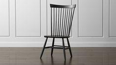 Marlow II Black Wood Dining Chair  #Crate&Barrel