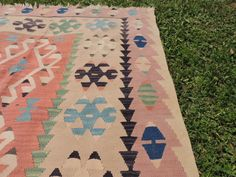 Kayseri Turkish kilim rug flatwoven by khalkedonkilims on Etsy