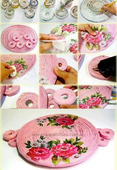 DIY rolled paper tray                                                                                                                                                                                 Mais