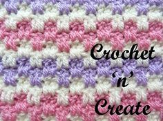 Interlocking block stitch http://crochetncreate.com/crochet-interlocking-block-stitch/ #crochetncreate