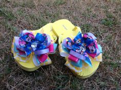 Disney Summer Couture Flip Flops. $18.50, via Etsy.