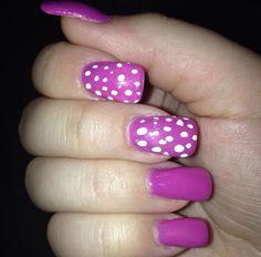 Neon Purple Point Nails ❤️