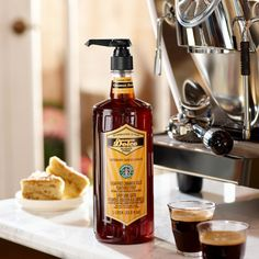 A 1-liter bottle of sugar-free cinnamon flavored syrup, for a sweet, spicy kick to the coffee or latte you make at home.