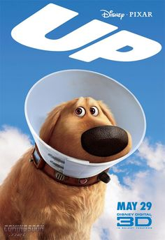 I looooooove Dug. He's my favorite Pixar character. Pixar's Up - Cone of shame @rdm7