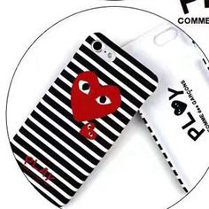 f0418b7e21dc40 BIGSONG Fashion CDG PLAY Comme des Garcons Loving eyes Fluorescence Hard PC  Case cover For iPhone 7 7 Plus 6 6S Plus