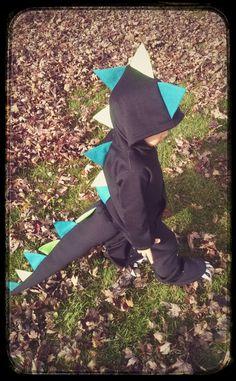 Handmade Dinosaur/Dragon Costume--Toddler-- Hoodie, Tail, Pants by SewDarlingbySarah on Etsy https://www.etsy.com/listing/209179896/handmade-dinosaurdragon-costume-toddler
