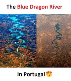 The Blue Dragon River in Portugal Amazing Places On Earth, Beautiful Places To Travel, Wonderful Places, Cool Places To Visit, Places To Go, True Interesting Facts, Some Amazing Facts, Interesting Facts About World, Wow Facts