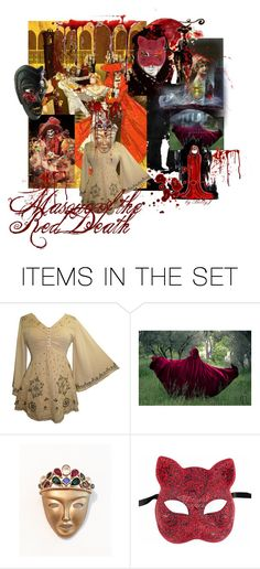 """""""Masque of the Red Death"""" by plumsandhoneyvintage ❤ liked on Polyvore featuring art, Poe, artexpression and artspirit"""