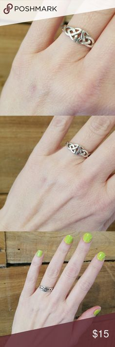 Sterling silver Celtic knot ring size 7.5 Sterling silver celtic knot ring. Size 7.5. Great  gently worn condition Jewelry Rings