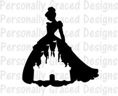 SVG Cinderella belle snowhite Png Layered Cut File Cricut Designs Silhouette Cameo jasmine Vinyl Decal Disney Castle Iron on