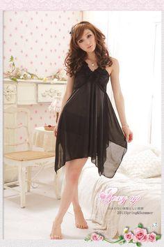 Sultry black mesh night lingerie   #dreamsuit #womenslingerie #sexywear