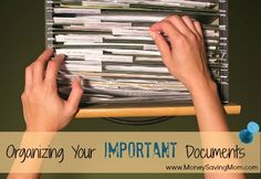 A great article on how to organize your important documents for home, life, and family members. Definitely going to do this!