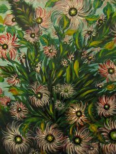Villeneuve d'Ascq LaM-Séraphine Louis de Senlis Claude Monet, Senlis France, Stained Glass Church, Landscape Paintings, Art Paintings, Landscapes, Art Brut, Plant Art, Naive Art