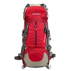 SURETEX Waterproof Outdoor Sport Hiking Trekking Camping Travel Backpack Pack Mountaineering Climbing Knapsack with Rain Cover (Blue, Best Ultralight Backpack, Best Travel Backpack, Ultralight Backpacking, Best Hiking Backpacks, Backpack Reviews, Outdoor Backpacks, Mountaineering, North Face Backpack, Tent Camping
