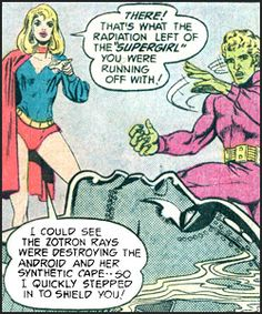 Supergirl resigns from the Legion. From Superboy #204 (1974) Art by Mike Grell.