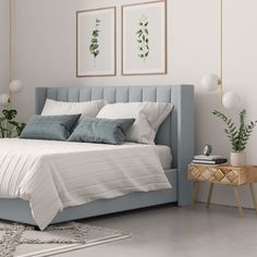 The Isabella Queen Size Bed Head is an elegantly appealing choice for the bedroom, featuring a modern yet timeless design. Room Design Bedroom, Bedroom Furniture Design, Room Ideas Bedroom, Home Room Design, Bed Furniture, Home Bedroom, Bedroom Decor, Master Bedroom, Queen Bedroom