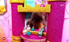 A great disney princess dollhouse for your little ones. A great disney princess dollhouse for your little ones. Barbie Dolls Diy, Diy Barbie Clothes, Barbie Doll House, Princess Barbie Dolls, Disney Dolls, Doll Crafts, Fun Crafts, Barbie House Furniture, Accessoires Barbie
