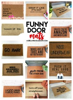 I'm pretty sure I need a new door mat.... - A girl and a glue gun