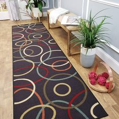 Choice for ordering your favourite Handmade Round Rugs from rugs online sale! Free shipping and easy free returns. Customer service and fast delivery are a priority! Rugs delivered right to your door. Best Carpet, Diy Carpet, Modern Carpet, Kitchen Runner, Carpet Trends, Carpet Ideas, Classic Rugs, Cheap Carpet Runners, Carpet Stairs