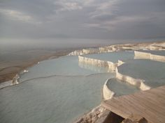 Terraces at Pamukkale, Turkey.