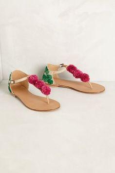 206f840af pom pom  sandals Flat Sandals