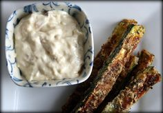 Zucchini fries with onion dip