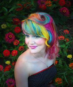 Rainbow Hair by Laura, hair, hair color, rainbow, multi-colored hair