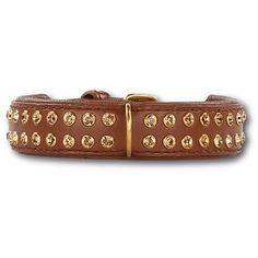 Doxtasy Hondenhalsband Swarovski Extreme Brown 30mm